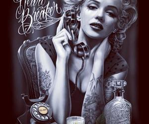 boss, tatted, and Marilyn Monroe image