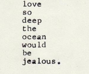 love, ocean, and deep image