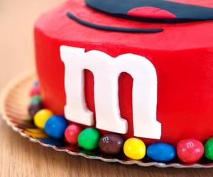 cake, m&m, and m&m's image