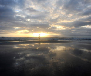 beach, sun, and loneliness image