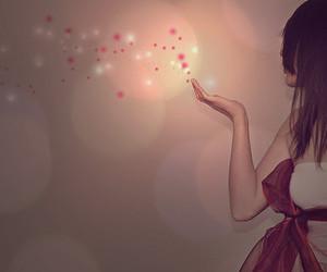 girl, dress, and light image