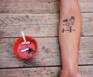 tattoo, cigarette, and heart image