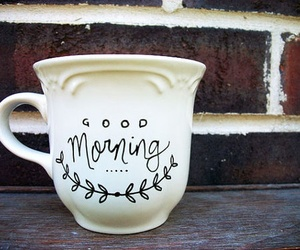 good morning, cup, and coffee image