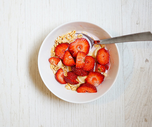 berries, meal, and sweet image