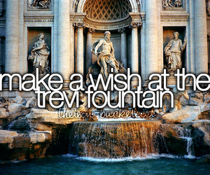 fountain, wish, and bucket list image
