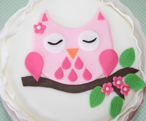 cake, owl, and pretty image