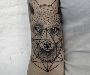 tattoo, fox, and arm image