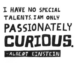 curious, einstein, and typography image