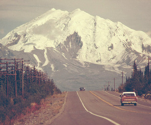 mountains, nature, and car image