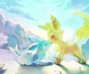 glaceon and leafeon image