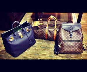 hermes, Louis Vuitton, and luxury image
