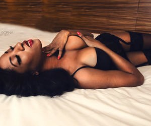 black, boudoir, and Hot image