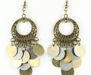 earrings, vintage, and cheap fashion jewelry image
