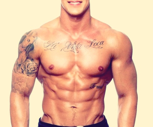 abs, fitness, and tattoo image