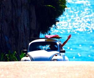 car, summer, and beach image
