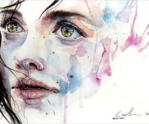 art, woman, and beautiful image