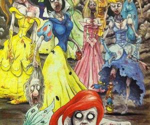 princess, disney, and zombie image