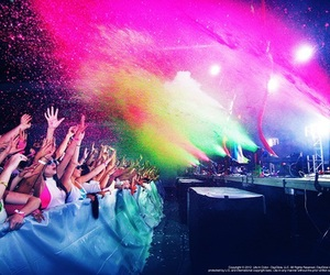 party, colors, and music image