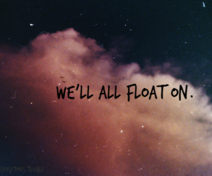 float, quote, and sky image