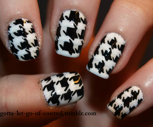 awesome, black and white, and manicure image