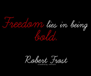 freedom, quote, and robert frost image