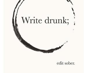 quote, drunk, and hemingway image