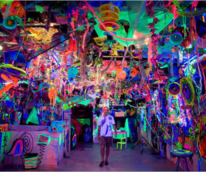 bright, colorful, and rave image