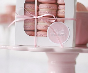 pink, macaroons, and sweet image