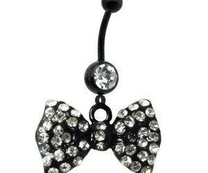 belly button ring, black, and sparkles image