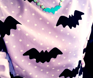 pastel, fashion, and bat image