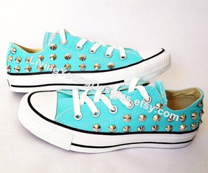 converse, summer, and silver spikes image