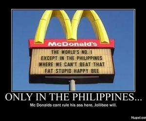 funny, Philippines, and McDonalds image