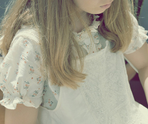 blonde, floral, and hair image