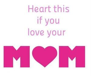 mom, heart, and quote image
