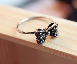 cute, bow, and ring image