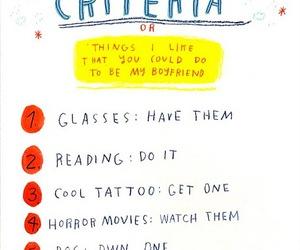 boyfriend, criteria, and funny image
