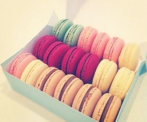 colours, macaroons, and summer image