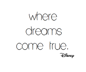 Dream, disney, and text image