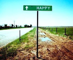 happy and road image