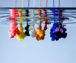 water, colors, and colorful image