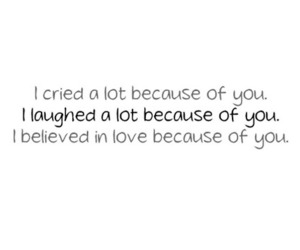 love, quote, and cry image