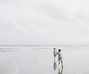 beach, kids, and happiness image