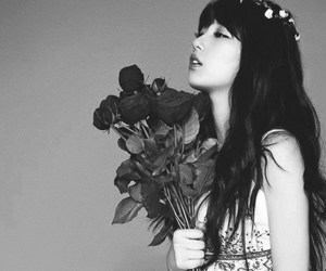 kpop, pretty, and black and white image