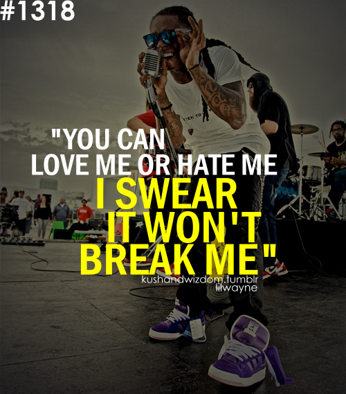lil wayne, quote, and hate image