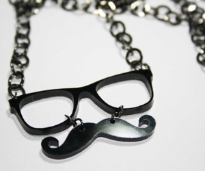 mustache, glasses, and moustache image