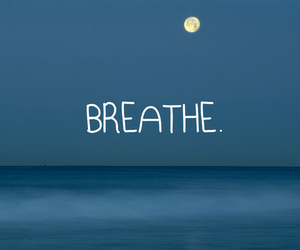 breathe, moon, and quote image