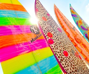 colours, fun, and surfboards image