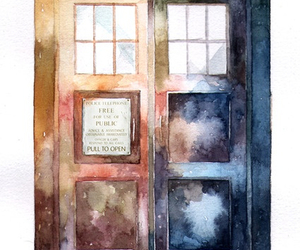 doctor who, tardis, and art image