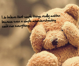 quote, bear, and teddy bear image