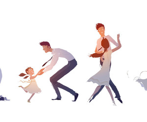 daughter, dad, and father image
